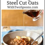 Instant Pot Maple Apple Steel Cut Oats. WithTwoSpoons.com