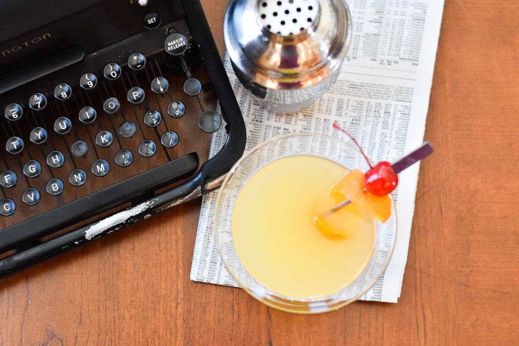 Orange Vanilla Martini overhead