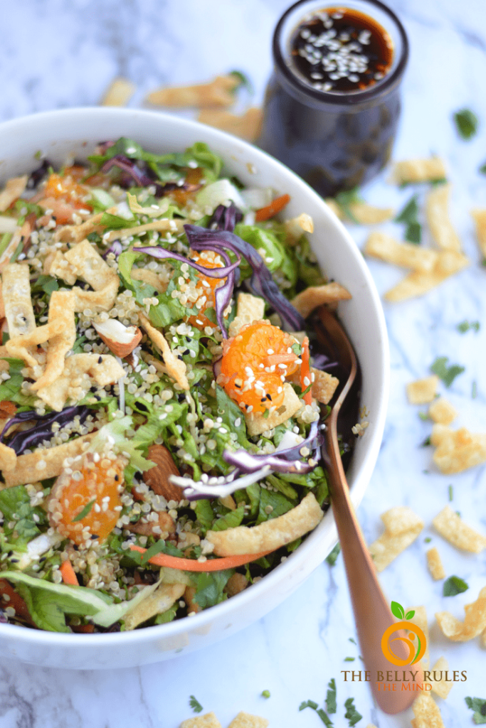 Quinoa Recipe Round Up Asian Quinoa Salad with Sesame Ginger Dressing
