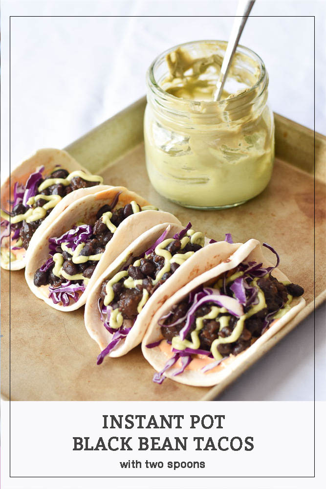 Instant Pot Black Bean Tacos long pin