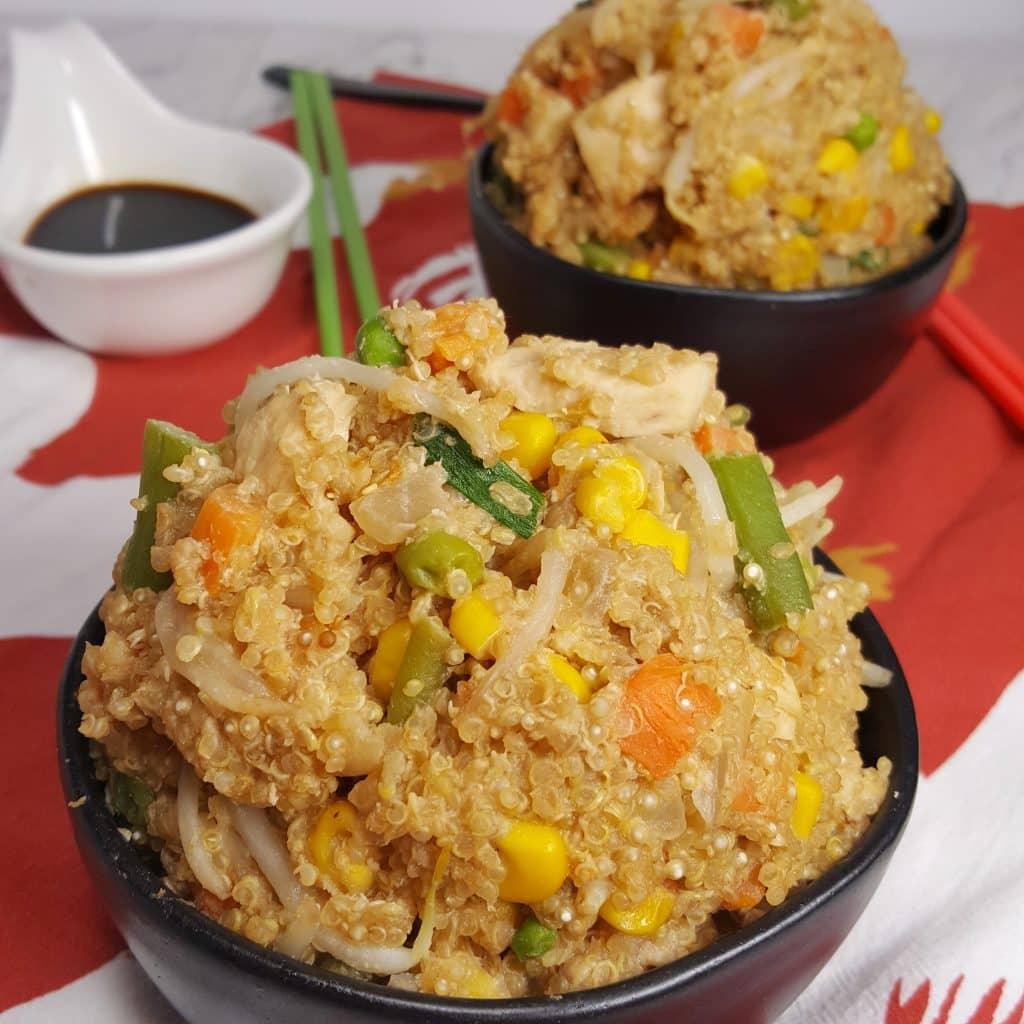 Quinoa Recipe Round Up Instant Pot Chicken Fried Quinoa