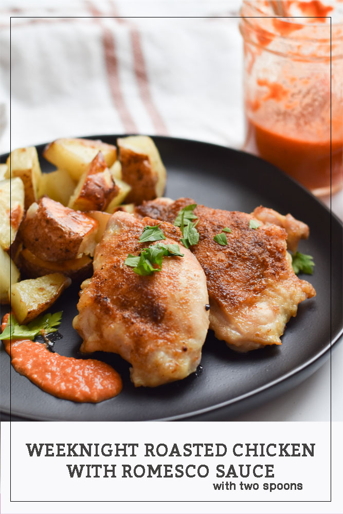 Roasted Chicken with Romesco