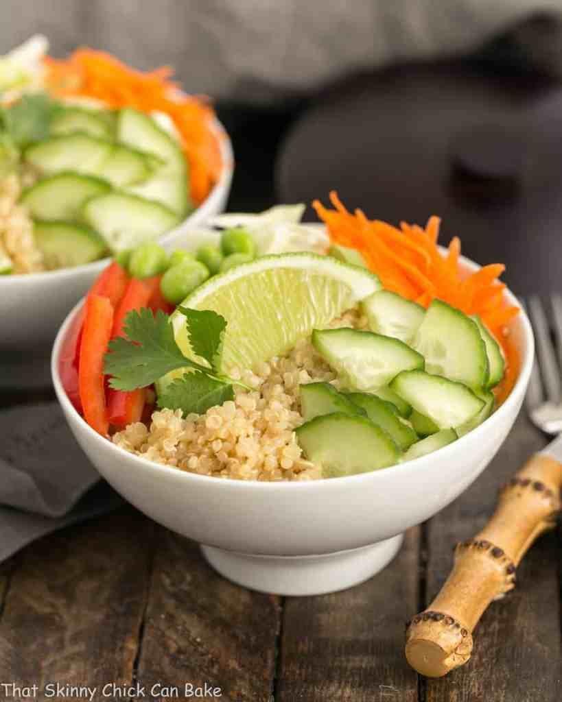 Quinoa Recipe Round Up Thai Quinoa Vegetable Bowls
