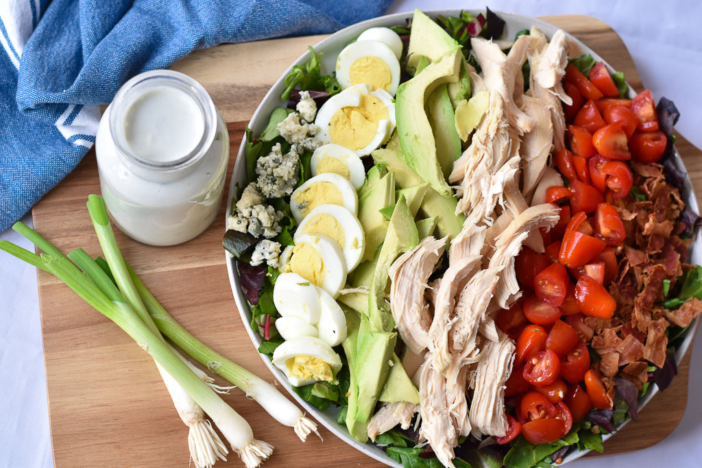 Cobb Salad with Creamy Gorgonzola Dressing