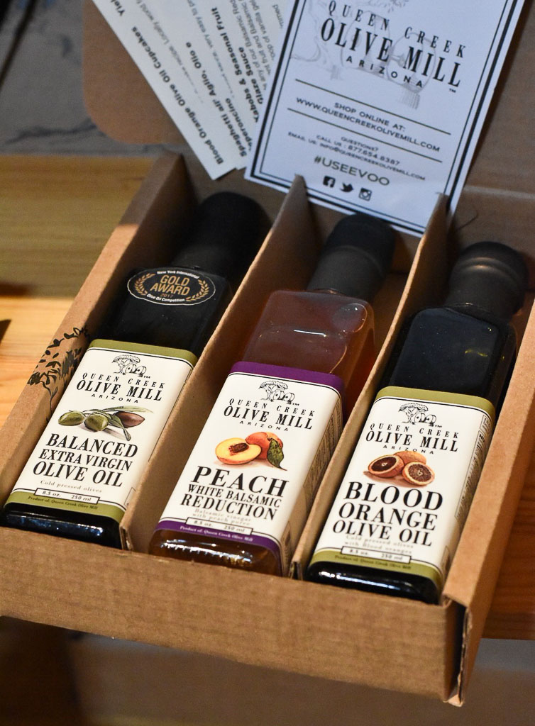 Queen Creek Olive Mill trio of products