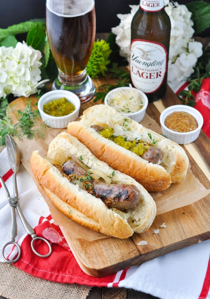 3 Ingredient Grilled Beer Brats by The Seasoned Mom