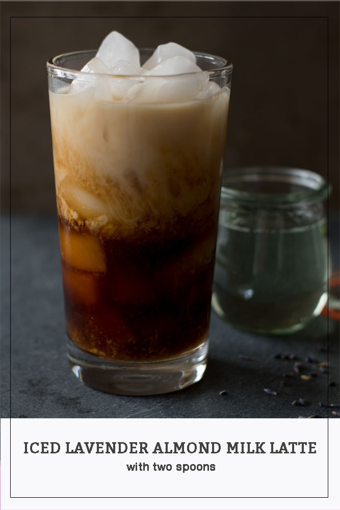 Iced Lavender Almond Milk Latte