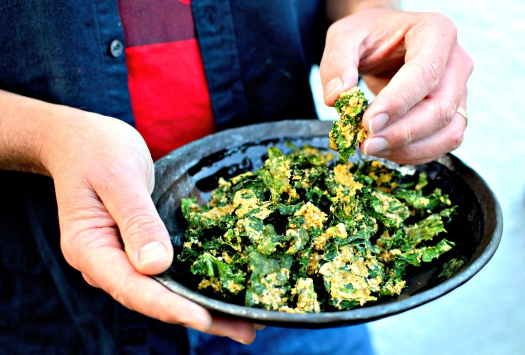 Cheesy Jalapeno Ranch Kale Chips