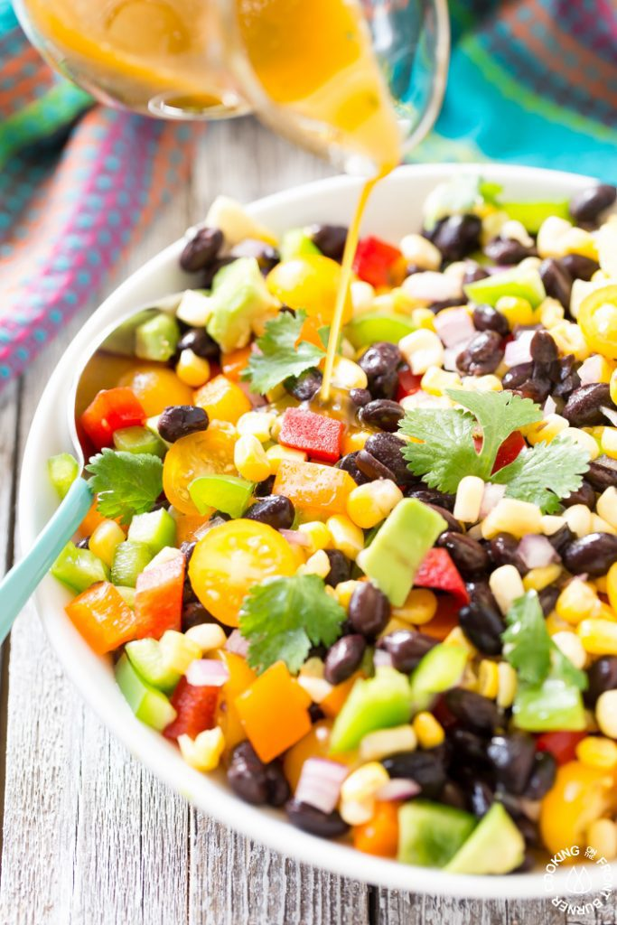 Easy Black Bean Corn Salad by Cooking on the Front Burner. Minnesota Summer