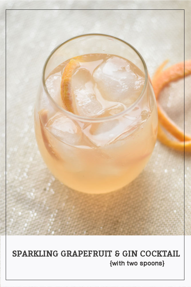 Sparkling Grapefruit & Gin Cocktail