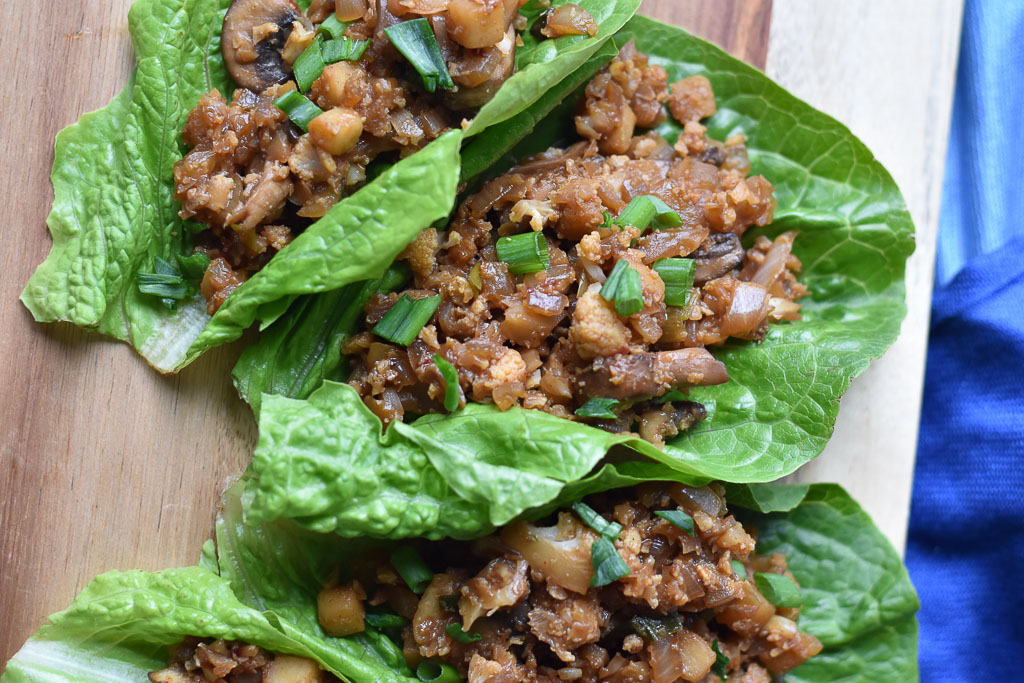 Vegan Lettuce Wraps close up