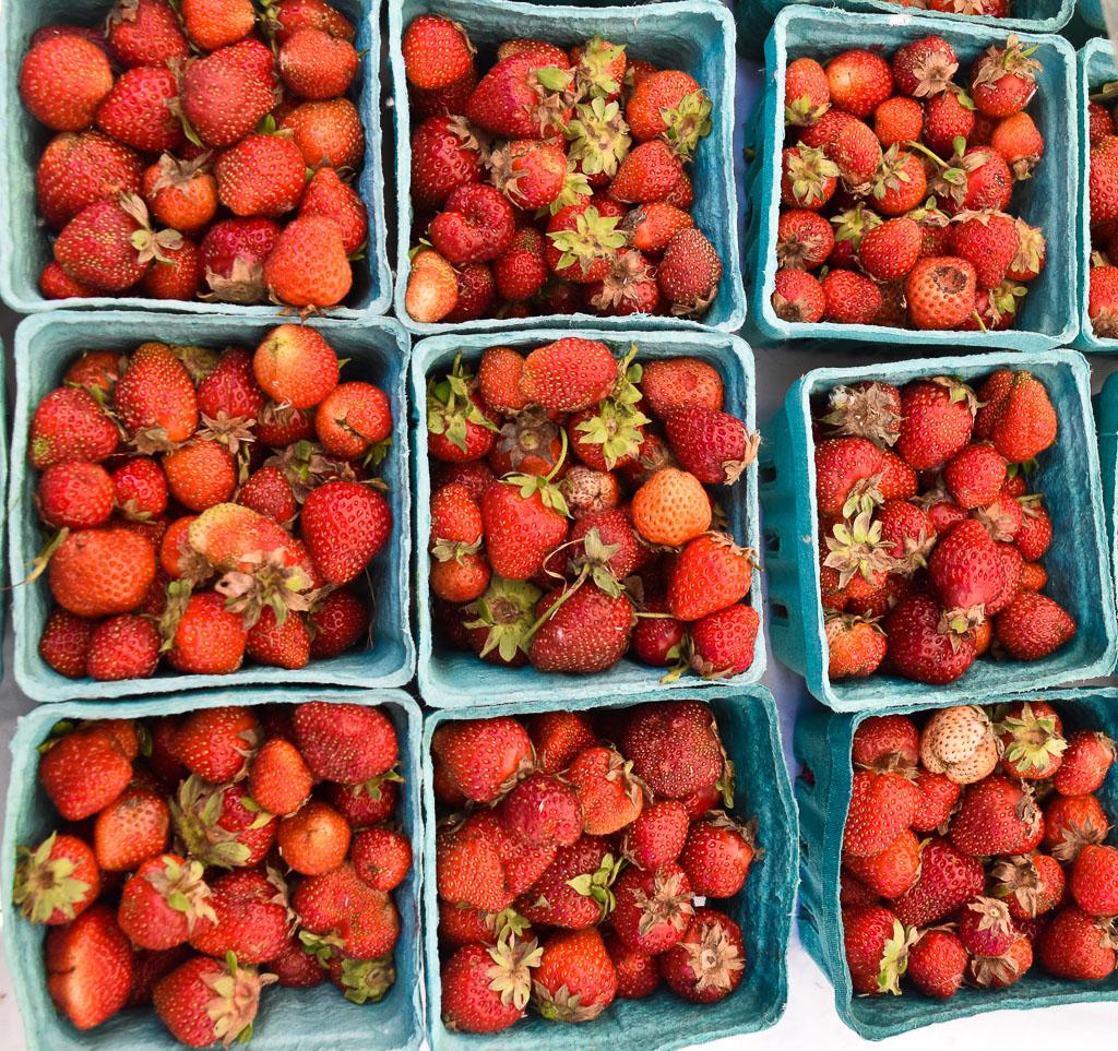 New York City GreenMarket Strawberries