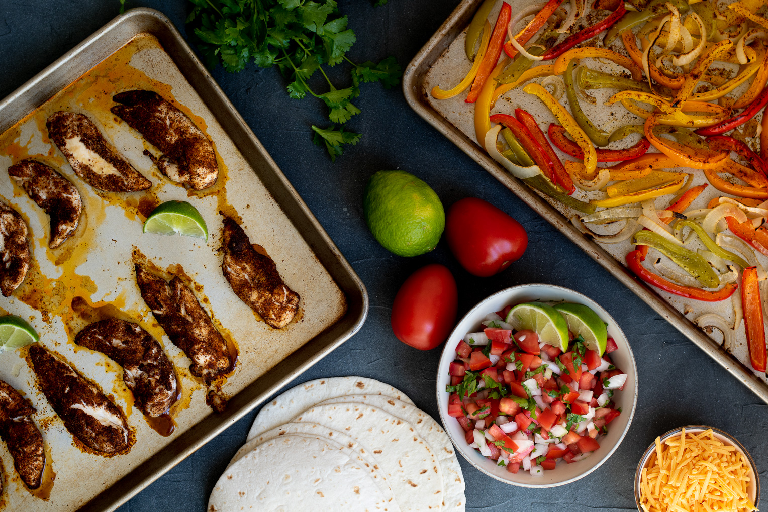 Sheet Pan Chicken and Bell Pepper Fajitas