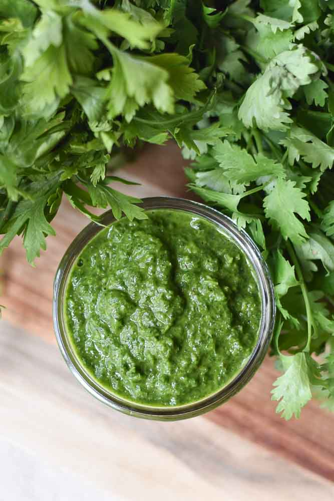 The best chimichurri sauce, perfect for making Chimichurri Pork Tenderloin #chimichurri #sauce #herbs