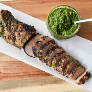 Chimichurri Pork Tenderloin, the perfect weeknight meal. #chimichurri #porktenderloin #dinnertonight