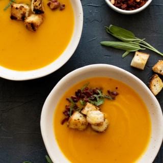 Butternut Squash Soup in An Instant (Pot)-10