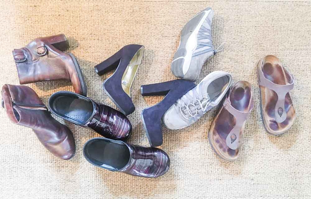 Shoes in a jumble. Friday Five Life Hacks