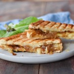 Caramelized Onion, Apple, and Brie Grilled Cheese Sandwiches
