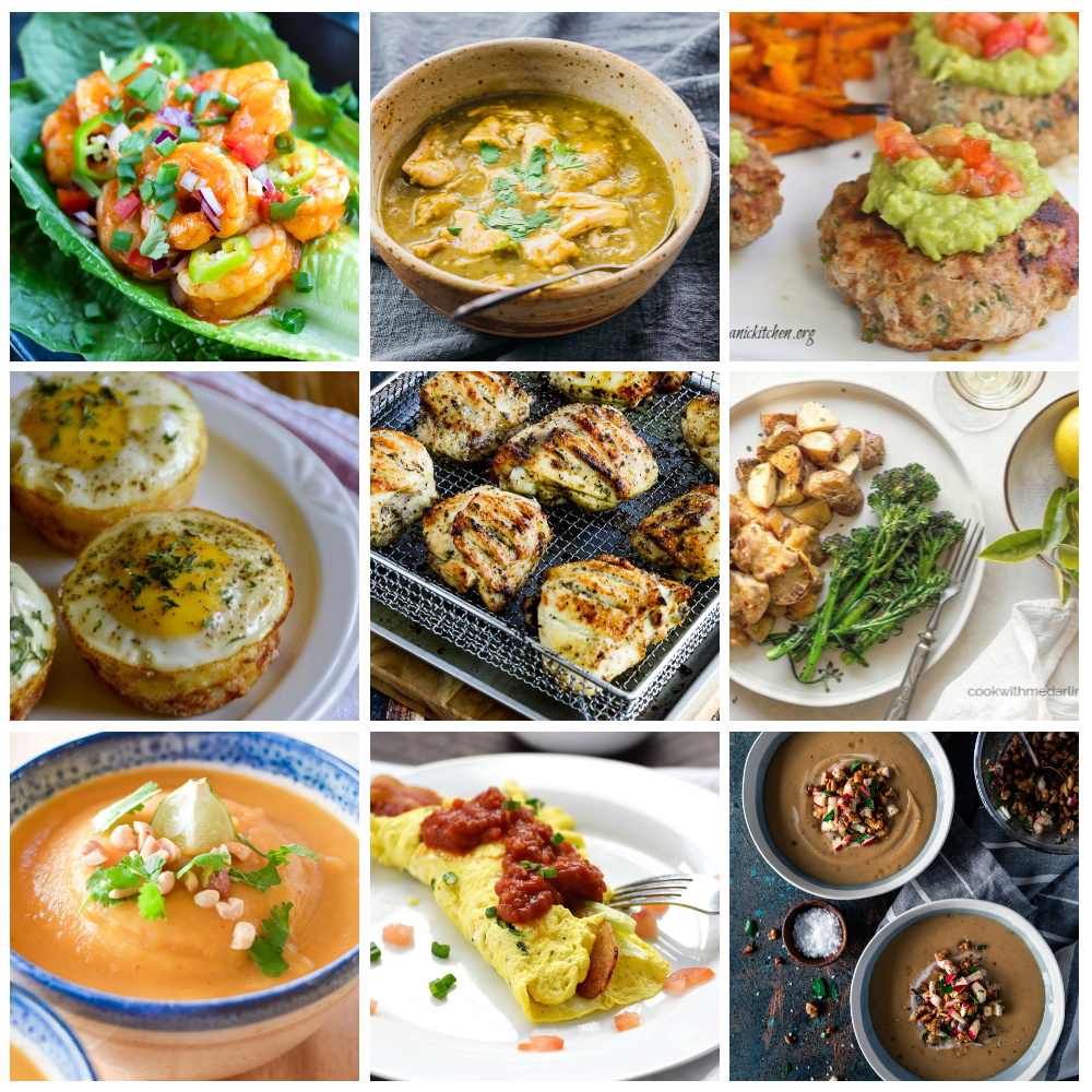 Whole 30 recipes and inspiration collage