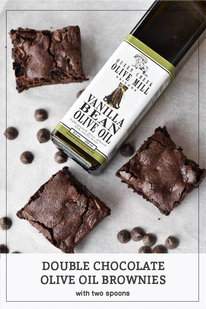 Double Chocolate Olive Oil Brownies Pinterest