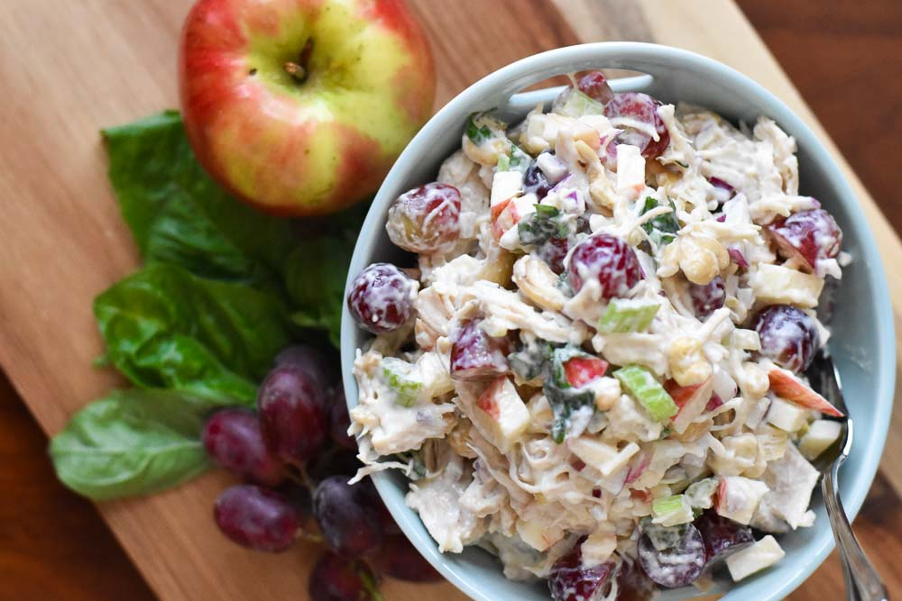 Waldorf Chicken Salad in a bowl