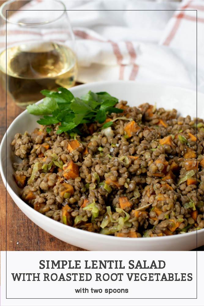 Simple Lentil Salad Pinterest Pin