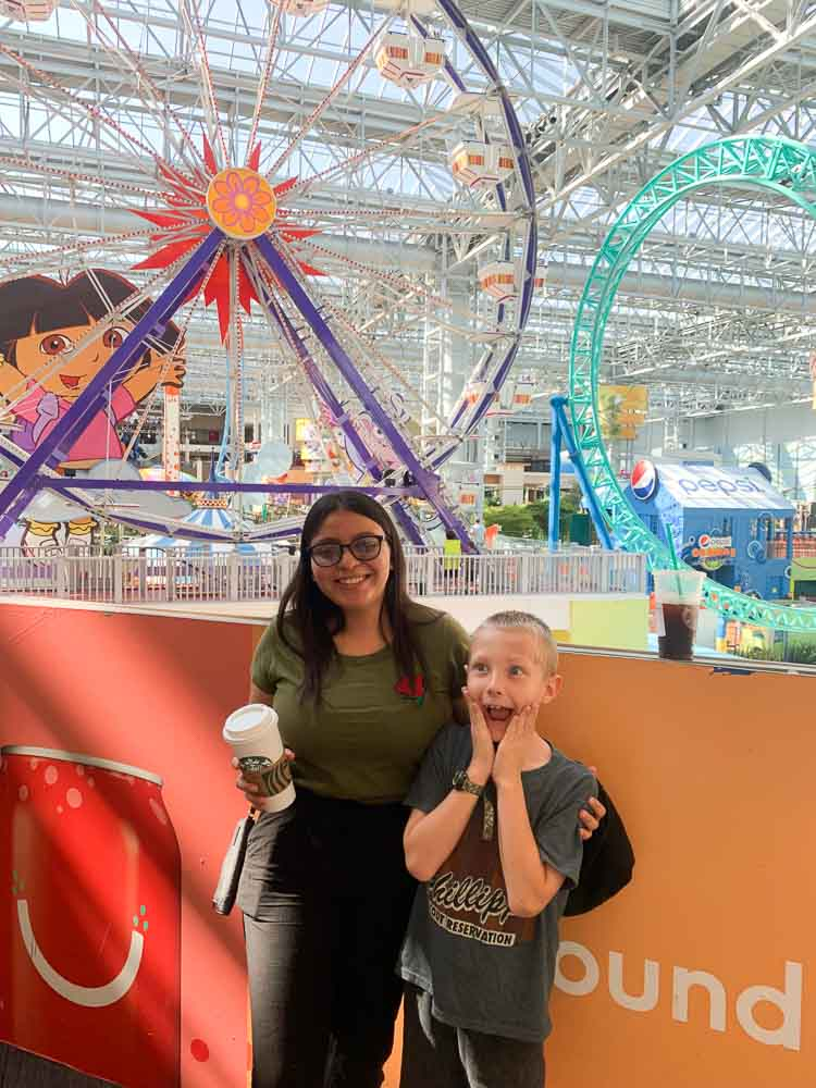 Gaby, our Amity Intern, at the Mall of America