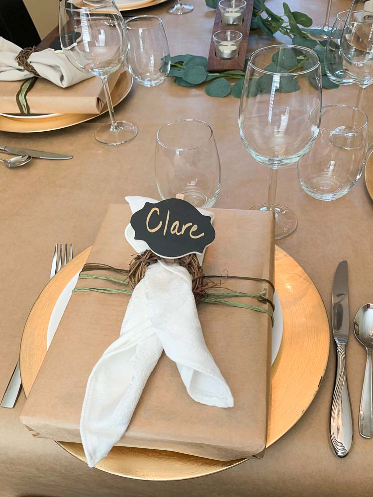 A place setting at the dinner party