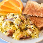 The Best Salmon Breakfast Scramble