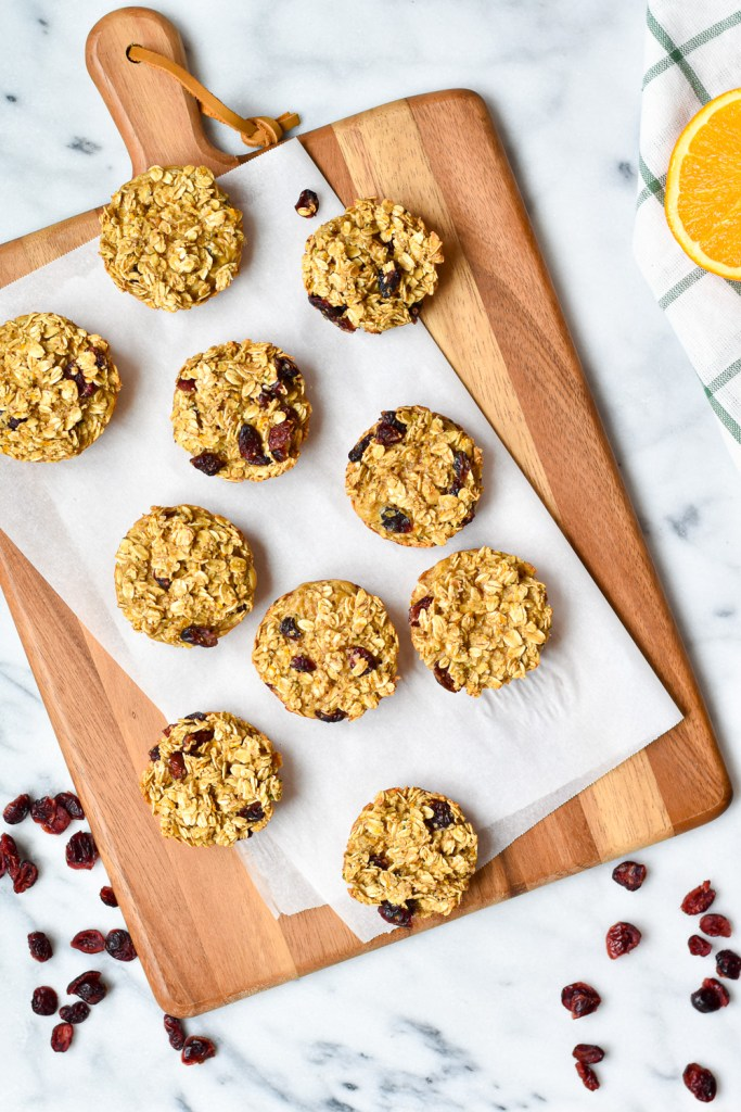 Cranberry Orange Baked Oatmeal Cups