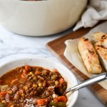 Healthy Lentil Vegetable Soup (Vegan, GF)