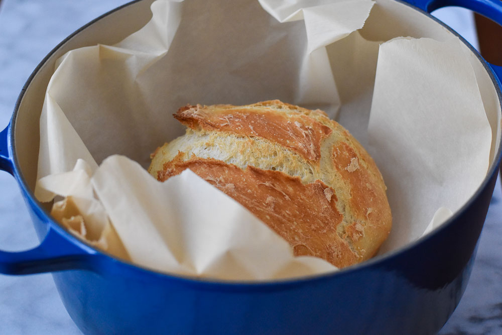 Golden Bread in a Dutch Oven