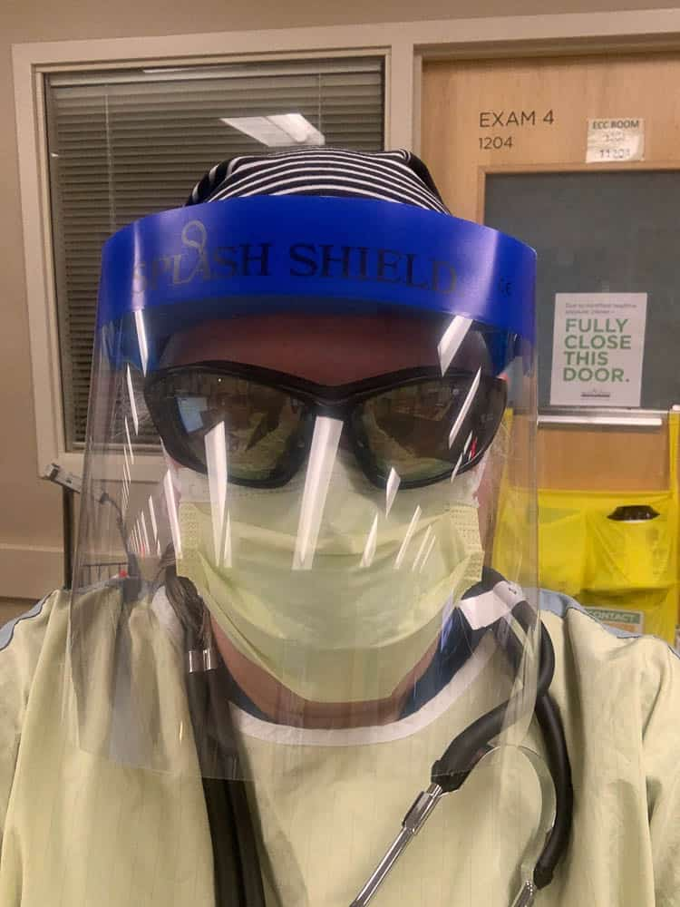 Me on the front lines behind all of my PPE.