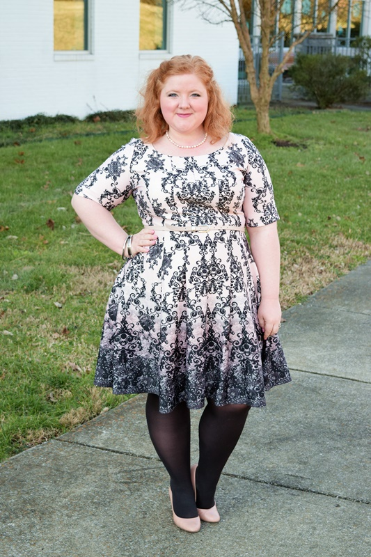 Dressing for Valentine s Day with DressBarn   With Wonder and Whimsy Today it s all about dressing for Valentine s Day with DressBarn  featuring  their Scroll Print Fit