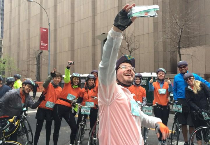 Matt Hamilton leads Team WITNESS in a selfie.