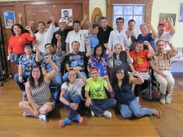 Our first event was held at La Casa Roja in Mid-City Los Angeles with freedom fighters from across Central America.