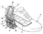 Gravity-powered shoe air conditioner - strange inventions