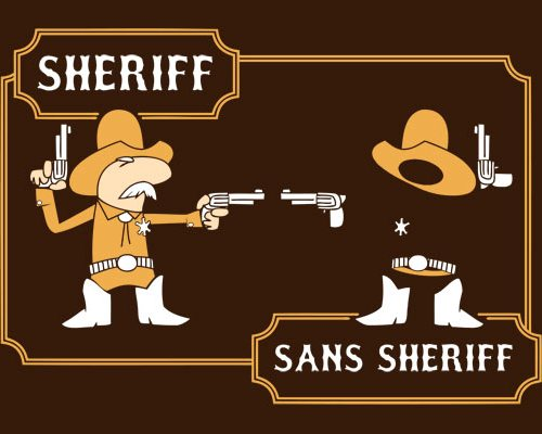 Sans Sheriff T-shirt Design