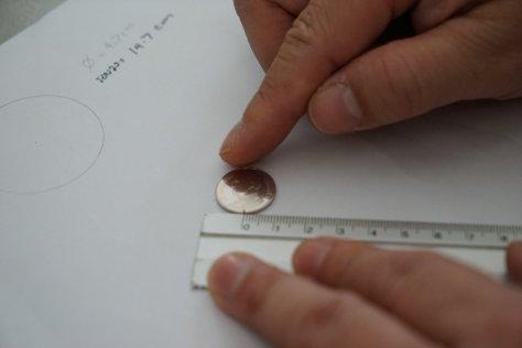 เอาเหรียญกลิ่งแบบนี้เพือวัดเส้นรอบวงไม่สำเร็จครับ มันลื่น