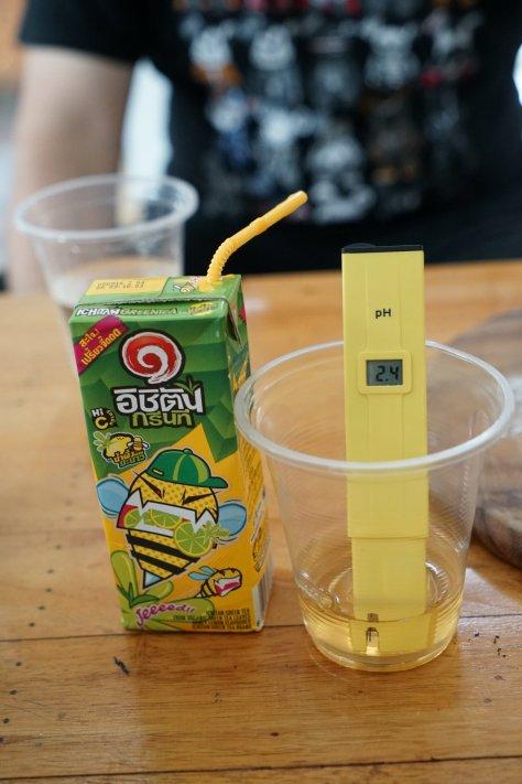 ชาเขียวมะนาวครับ