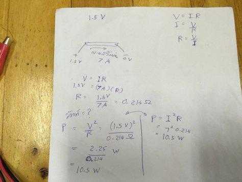 คำนวณกำลังไฟฟ้าจากกระแสไฟฟ้าที่ไหลผ่านฟอยล์อลูมิเนียม