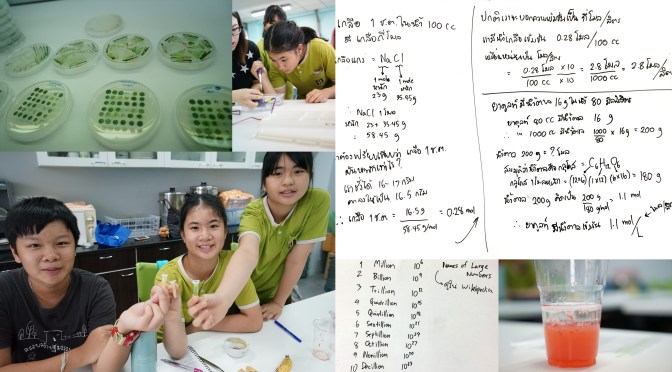 สอนวิทย์มัธยม 1: ลองคำนวณความเข้มข้นเป็นโมลต่อลิตร ไปทัศนศึกษาเรื่อง DNA