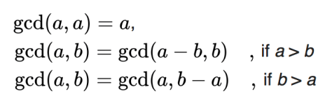 จาก https://en.wikipedia.org/wiki/Greatest_common_divisor#Using_Euclid's_algorithm