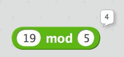 19 mod 5 = 4