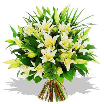 white-lily-boquet