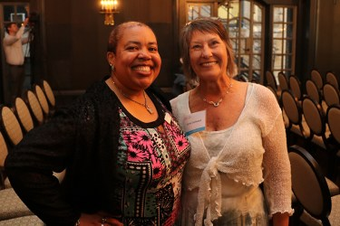 Dorne Eastwood with Daphne Robinson, Program and Development Administrative Manager at WITS