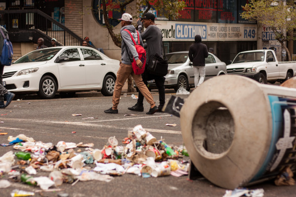 NOT PIKITUP: Private service providers have been delegated to clean the city, while Pikitup workers continue their strike. Photo: Kyle Oberholzer