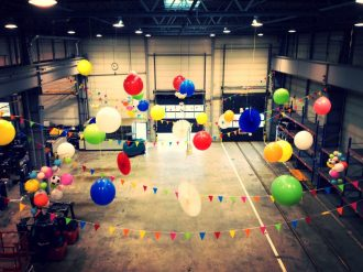 Witt Firmenevents Ballon Decke