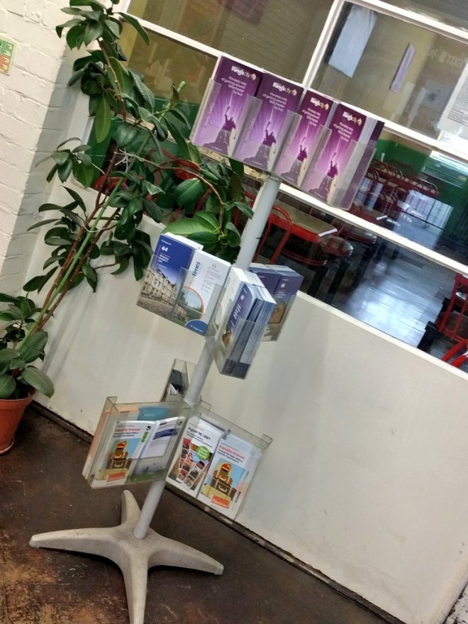 A good selection of bus timetables in Winchester bus station