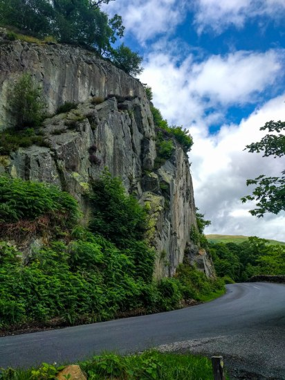 Walking-from-Glenridding-to-Aira-Force---Cliff-side